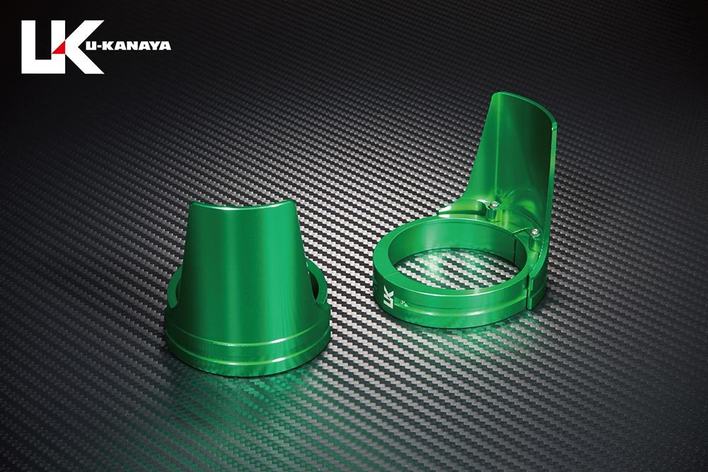 U-KANAYA ユーカナヤ ガード・スライダー アルミビレットフロントフォークガード ガードカラー:グリーン ガードリングカラー:グリーン バンディット250