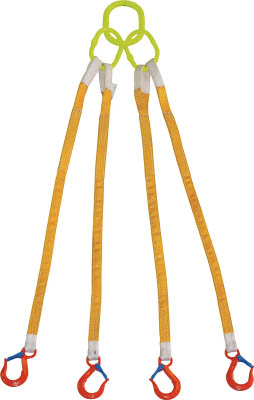 【ポイント5倍開催中!!】【クーポンが使える!】 TRUSCO トラスコ中山 TOP 大洋 4本吊 インカリフティングスリング 5t用×1.5m