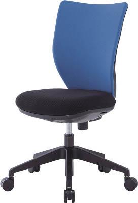 TRUSCO トラスコ中山 TOP アイリスチトセ 回転椅子3DA ブルー 肘なし