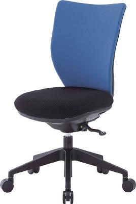 TRUSCO トラスコ中山 TOP アイリスチトセ 回転椅子3DA ブルー 肘なし シンクロロッキング