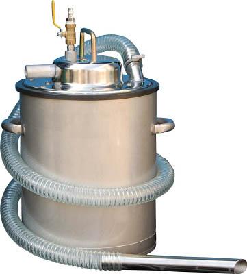 TRUSCO トラスコ中山 TOP アクア 乾湿両用ステンレス製エア式クリーナー ペール缶