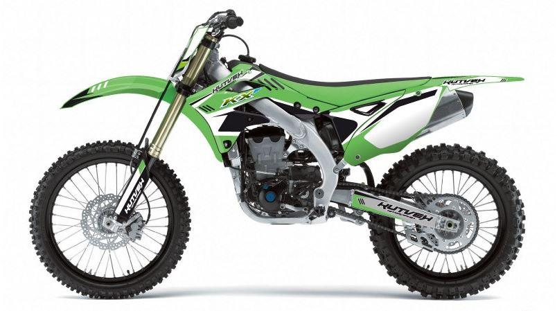クヴェック ステッカー・デカール Kutvek Chrono graphic kit Kawasaki KX250【ヨーロッパ直輸入品】 KX250 (250) 08-11