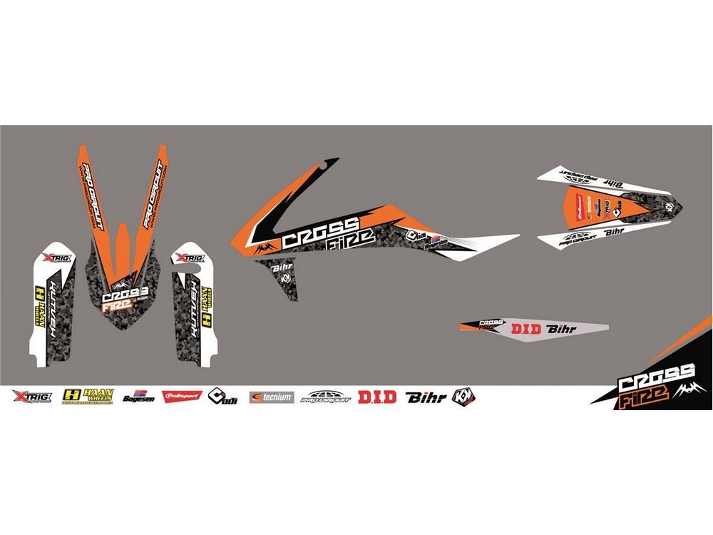 クヴェック ステッカー・デカール KUTVEK CROSS FIRE graphic kit orange KTM SX65【ヨーロッパ直輸入品】 SX65 (65) 09-16