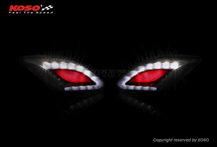 KOSO コーソー その他灯火類 CYGNUS125用 LEDフロントウィンカー スモーク LEDカラー:レッド/ホワイト (台湾ヤマハ) CYGNUS X (1MS)