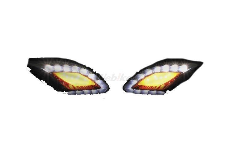 KOSO コーソー その他灯火類 CYGNUS125用 LEDフロントウィンカー スモーク LEDカラー:イエロー/ホワイト (台湾ヤマハ) CYGNUS X (1MS)