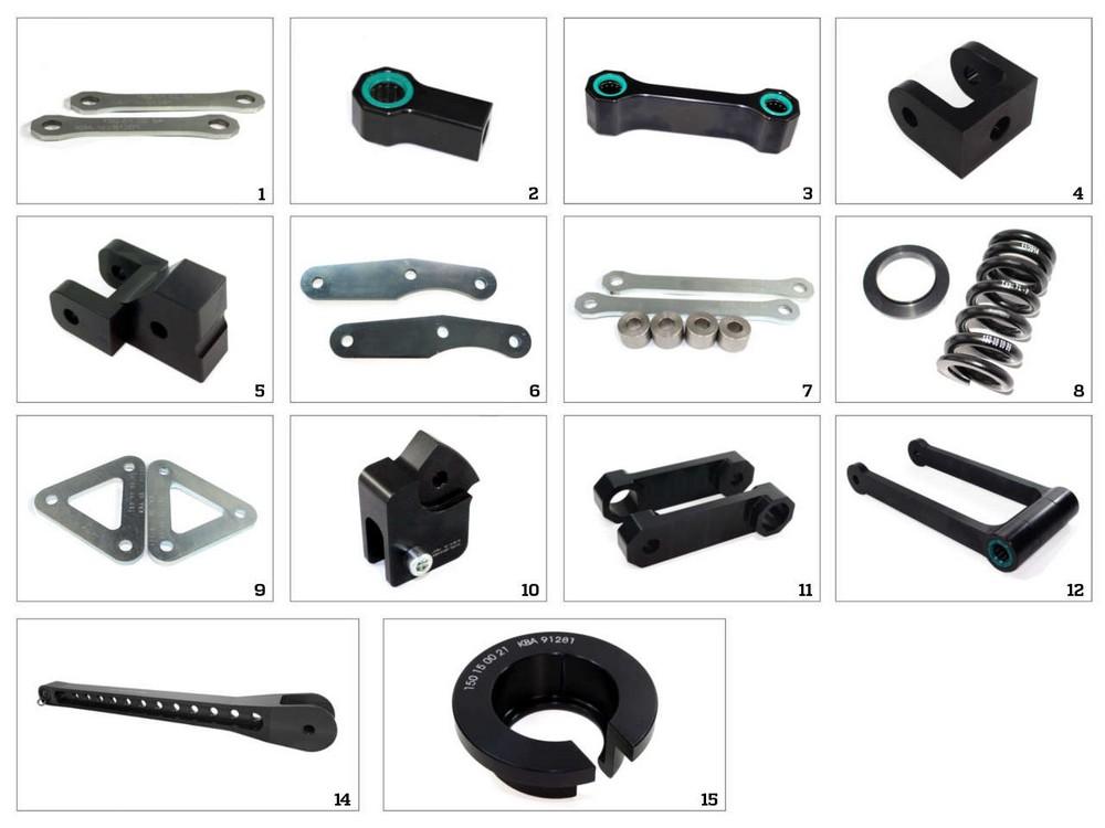 テクニウム 車高調整関係 TECHNIUM ローダウンキット 9タイプ SUZUKI DL1000 V-STROM用(Tecnium Lowering Kit 9-Type Suzuki DL1000 V-Strom【ヨーロッパ直輸入品】)