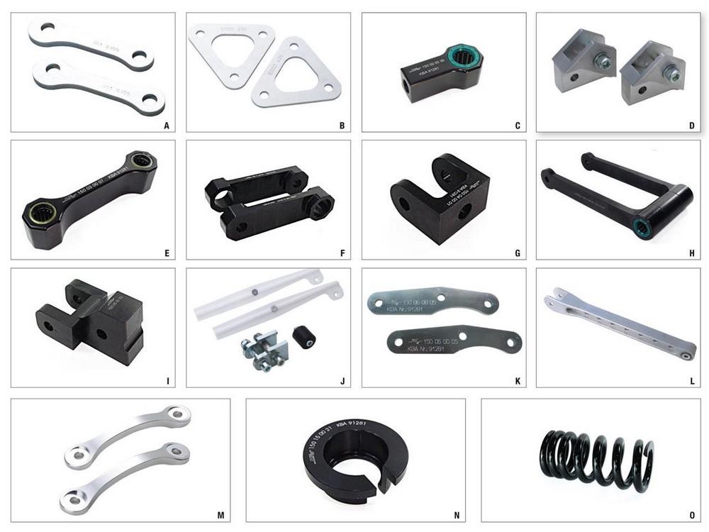 ULTIMA ALLOY アルティマ アロイ 車高調整関係 ALLOY ULTIMA Lowering Kit -35mm Type B XL1000V Honda Varadero 【ヨーロッパ直輸入品】