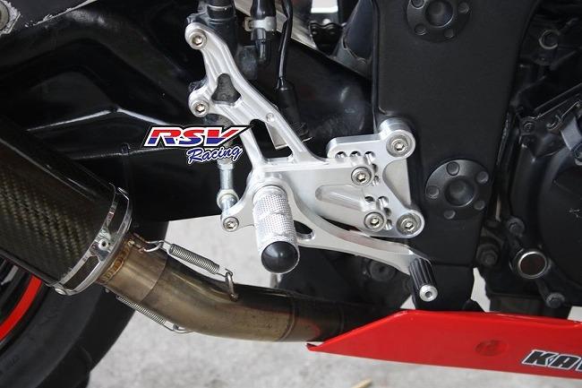RSV racing アールエスブイレーシング バックステップ 可変タイプ NINJA250-13/NINJA300用 カラー:red Ninja250-13 Ninja300 2013-2016