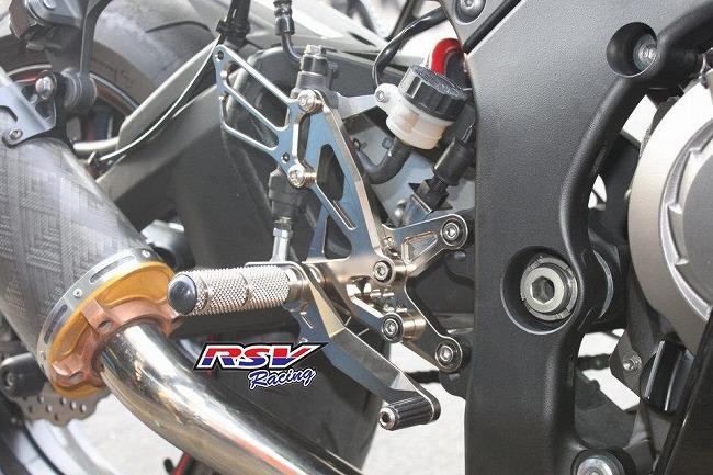RSV racing アールエスブイレーシング バックステップ 可変タイプ ZX10-11-12用 カラー:orange ZX10 2011-2012