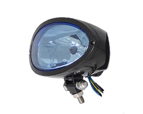 Neofactory ネオファクトリー ヘッドライト本体・ライトリム/ケース ビレットオーバルヘッドライト ボディーカラー:ブラック レンズカラー:ブルー 汎用
