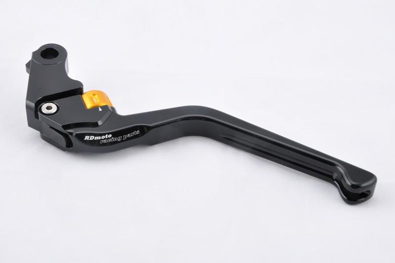 RDmoto アールディーモト アジャスタブルクラッチレバースタンダード(Adjustable clutch lever - STANDARD) アジャストカラー:ゴールド レバーカラー:オレンジアルマイト ホーネット600