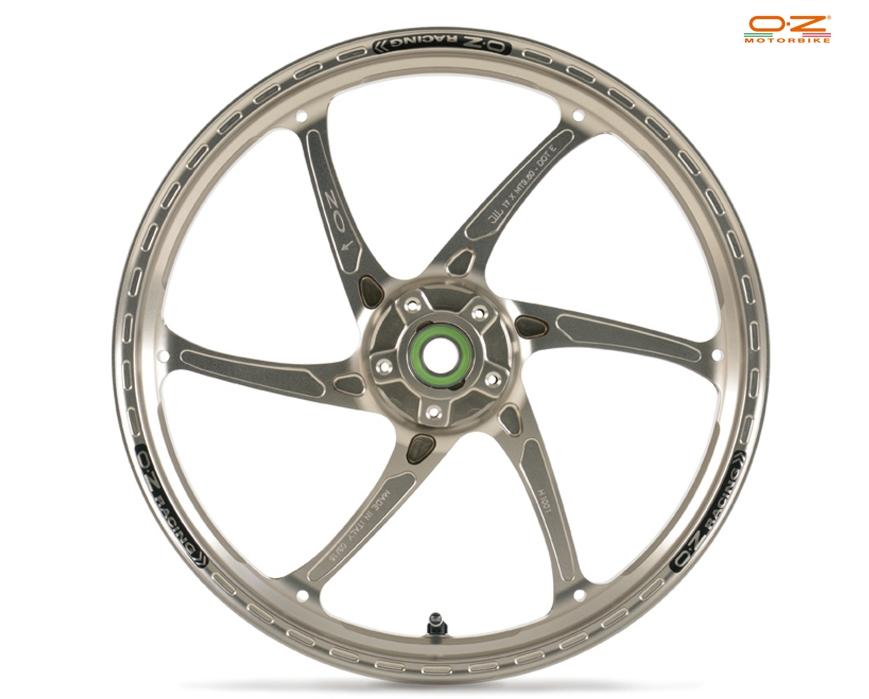 OZレーシング ホイール本体 GASS RS-A アルミ鍛造ホイール カラー:ブラックアルマイト Hypermotard 796 08-12