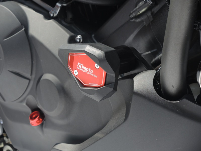 ガード・スライダー [ヴェルシス] VERSYS アールディーモト (Crash protectors) スライダーベースカラー:ブラック アルマイトカラー:オレンジアルマイト クラッシュプロテクター・ガード RDmoto