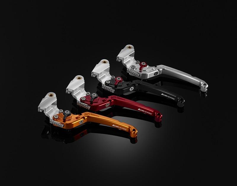 BIKERS バイカーズ 6段調整付可倒式クラッチレバー カラー:グレー ER-6n NINJA 650 VERSYS650