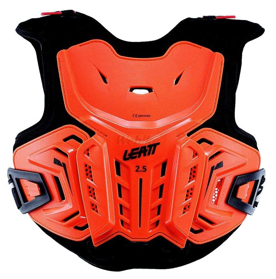 LEATT BRACE リアットブレイス 胸部プロテクターチェストガード・ブレストガード LEATT/17 2.5チェストプロテクター 【ジュニア】 カラー:オレンジ/ブラック