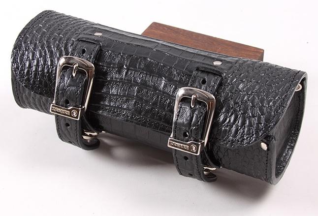 DEGNER デグナー その他バッグ クロコダイルエンボスレザーツールバッグ カラー:ブラック