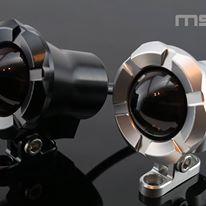MSPRO エムエスプロ CNCアルミニウム ラウンドBタイプテールランプ サイドカラー:シルバー ボディーカラー:シルバー