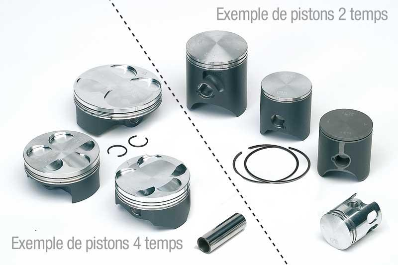 TECHNIUM 鍛造ピストン Φ57.00mm KAWASAKI KX125 1982-1985用(Tecnium forged piston for KAWASAKI KX125 1982-1985 Φ57,00mm【ヨーロッパ直輸入品】)