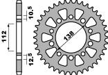 ピービーアール スプロケット PBR Ultra-light Aluminum Rear Sprocket Type 4384 520 Chain【ヨーロッパ直輸入品】 丁数:49