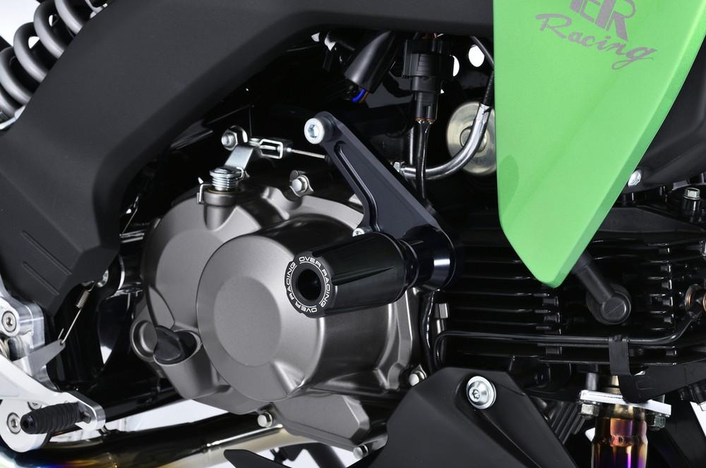 OVER オーヴァー ガード・スライダー エンジンスライダー カラー:シルバー Z125 プロ