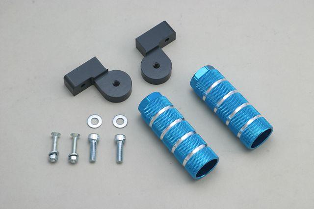 ADIO アディオ バックステップキット カラー:ブルー NMAX125 (16/03-)、NMAX155 (17/04-) [SE86J(2DS2),SED6J,SG50J(BV4)]