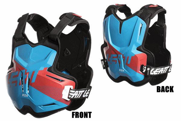 LEATT BRACE リアットブレイス 胸部プロテクターチェストガード・ブレストガード 2.5 ROX チェストプロテクター カラー:ブルー/レッド