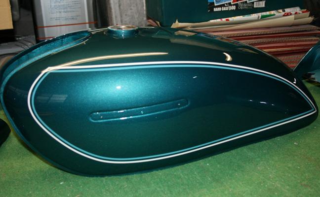 バイクペイント.com Bike Paint.com GS400E1(GSII型)輸出 メタリックブルー図面つきウレタン塗料セット GS400