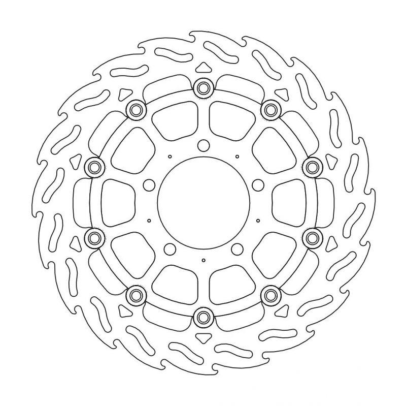 MOTOMASTER モトマスター フレイム ステンローター フロント用 ZX-6R ZX-10R Z1000 (水冷) カワサキ その他
