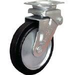 TRUSCO トラスコ中山 工業用品 シシク 緩衝キャスター 固定 ゴム車輪 200径