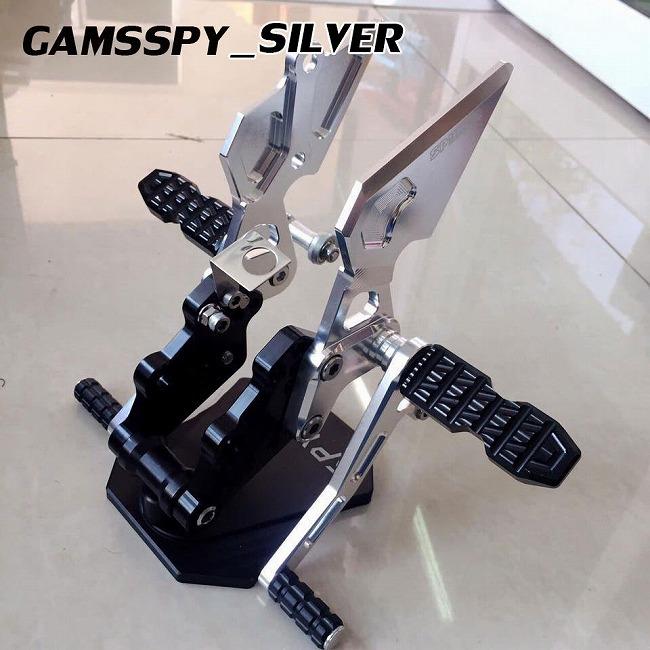 SPYKER スパイカー バックステップキット カラー:シルバー M-SLAZ 16