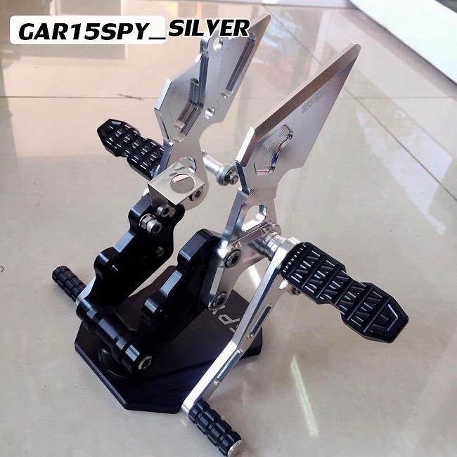 SPYKER スパイカー バックステップキット カラー:シルバー R15 15-16