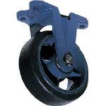 TRUSCO トラスコ中山 工業用品 京町 鋳物製金具付ゴム車輪(幅広)