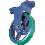 TRUSCO トラスコ中山 工業用品 京町 ダクタイル製金具付ウレタン車輪150MM