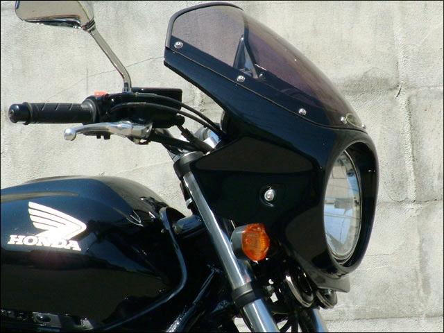 CHIC DESIGN シックデザイン ビキニカウル・バイザー ロードコメット カラー:キャンディブレイジングレッド/ホワイト/ブラック(CBXカラー)(カラーコード:R195/N (3トーンカラー塗装済み) カラー:クリア