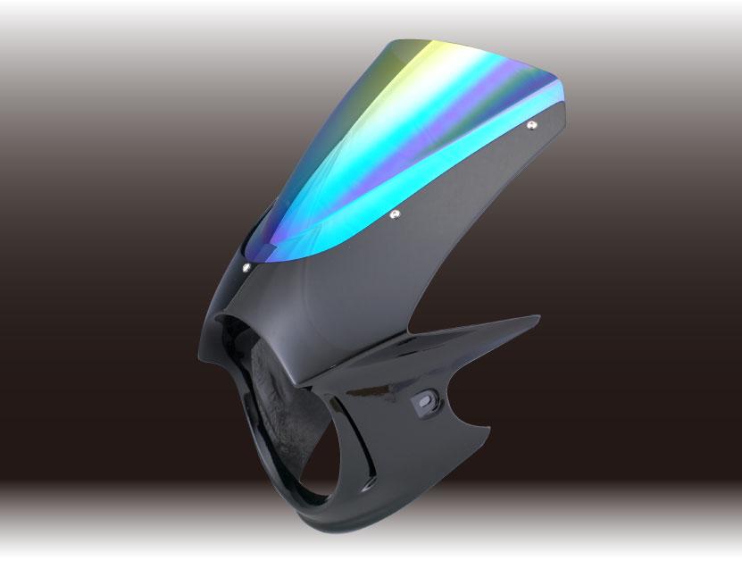 Force-Design フォルスデザイン ビキニカウル・バイザー ビキニカウル エンデュランススクリーン カラー:イタリアンレッド スクリーンカラー:ミラー VTR250 (FI)MC33 09-
