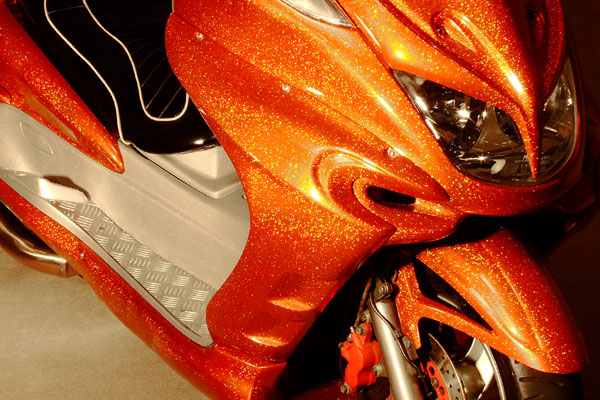 WARRIORZ ウォーリアーズ スクーター外装 マジェスティ用 サイドカウル V3(バージョンスリー) カラー:ベリーダークオレンジ(ブラウン)
