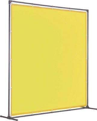 トラスコ中山 工業用品 TRUSCO 溶接遮光フェンス 2015型単体 固定足 黄