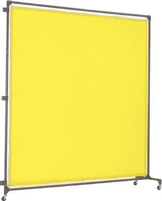 トラスコ中山 工業用品 TRUSCO 溶接遮光フェンス 2015型接続 キャスター 黄