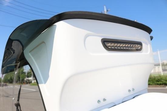 TIME IS タイムイズ スクーター外装 REBEL STREET ジャイロキャノピー用オーバーヘッドパネルデリバリーBOX用LEDランプ・配線キット付き レンズカラー:スモーク ジャイロキャノピー2スト&4スト デリバリーBOX装着車(全年式)