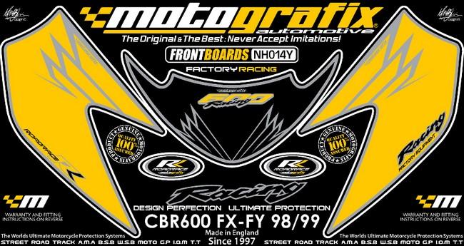【ポイント5倍開催中!!】MOTOGRAFIX モトグラフィックス ステッカー・デカール ボディーパッド CBR600F