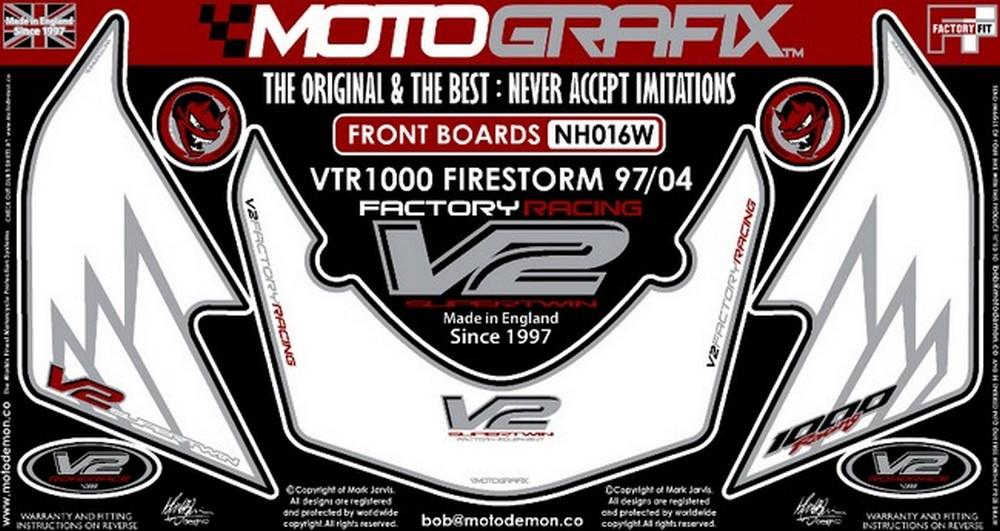 MOTOGRAFIX モトグラフィックス ステッカー・デカール ボディーパッド VTR1000F FIRESTORM [ファイアストーム]