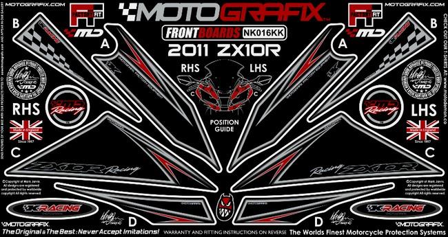 【ポイント5倍開催中!!】MOTOGRAFIX モトグラフィックス ステッカー・デカール ボディーパッド ZX-10R