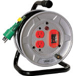 TRUSCO トラスコ中山 工業用品 日動 電工ドラム 標準型100Vドラム アース過負荷漏電しゃ断器付 10m
