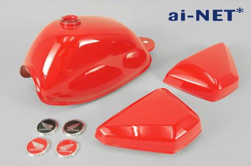 ai-net アイネット モンキー 4L燃料タンク(ガソリンタンク) サイドカバーセット カラー:レッド モンキー Z50