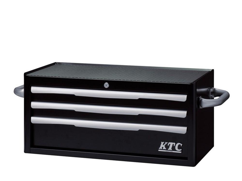 KTC ケイティーシー その他、工具箱(収納) フラットトップチェスト 3段3引出し カラー:ブラック