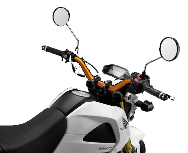【イベント開催中!】 BIKERS バイカーズ ハンドルバー 28.6mmファットバー カラー:チタン MSX125