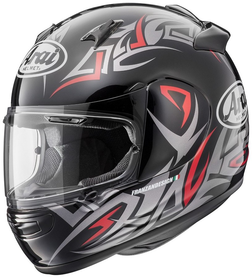 Arai アライ フルフェイスヘルメット QUANTUM-J GROOVE [クアンタム-J グルーブ 赤] ヘルメット サイズ:L(59-60cm)