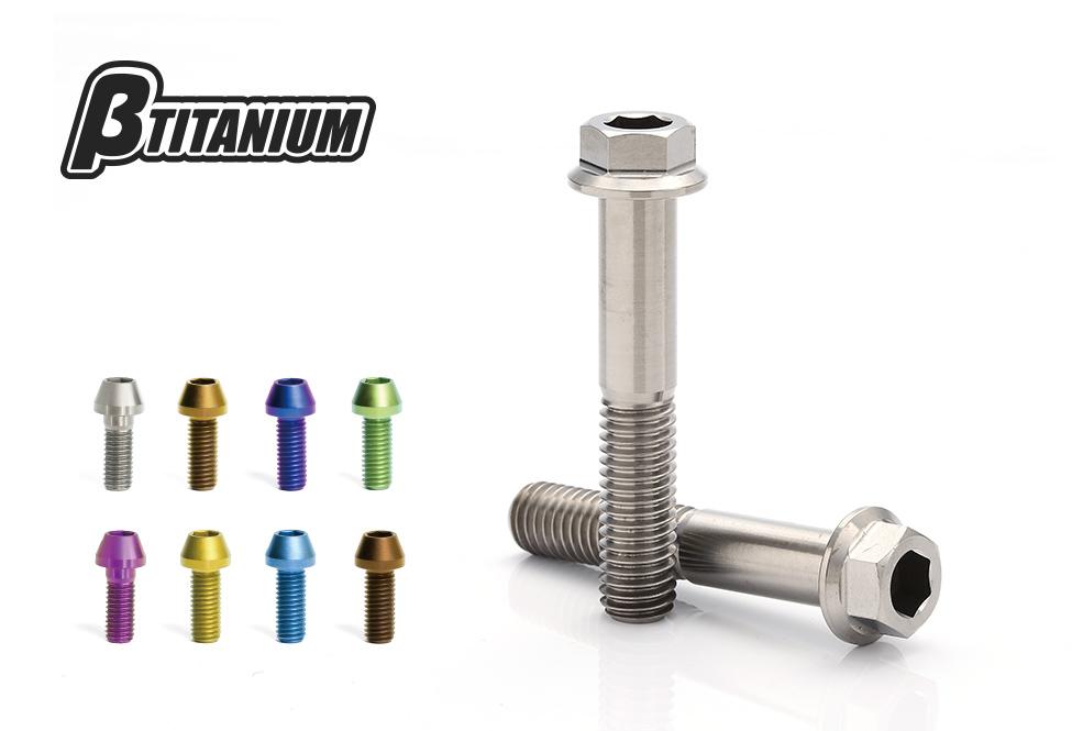 外装 βTITANIUM ベータチタニウム βチタニウム 公式サイト M6 BT-TIHC-06015-BG ついに入荷 コンパクトフランジ六角チタンボルト ブラウンゴールド