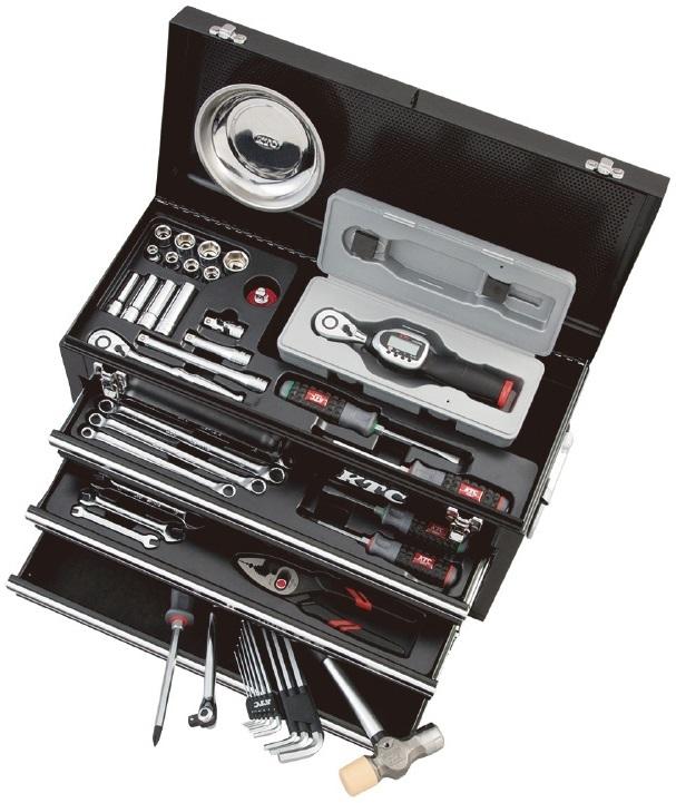 KTC ケイティーシー セット工具 デジラチェ採用セット ケースカラー:ブラック