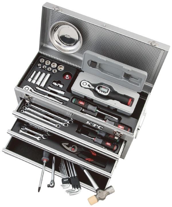 KTC ケイティーシー セット工具 デジラチェ採用セット ケースカラー:シルバー
